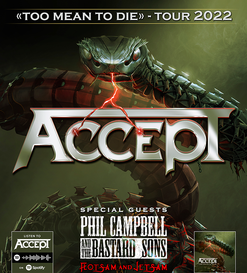 ACCEPT: Too Mean To Die Tour 2022