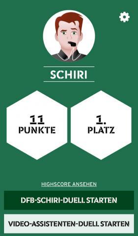 Screenshot Apptipp: Schiri-Duell