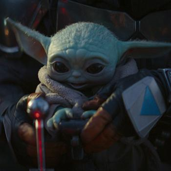 "Baby Yoda in ""The Mandalorian"""